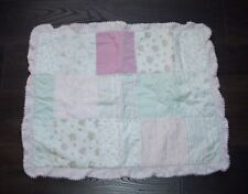 Simply Shabby Chic Kids Floral Dot Patchwork Chenille Pink Standard Pillow Sham