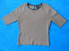 WILLI SMITH ~ Tan Taupe Brown 3/4 Sleeve Sweater Top ~ Size MEDIUM M