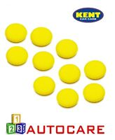 """5"""" Yellow Polish Wax Applicator Sponge For Car Valeting/Cleaning x10"""