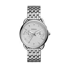 Fossil Damen-Armbanduhr ES3712 Edelstahl Quarz Analog Silber Glänzend 35 mm