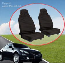New Nylon Front Universal car van  Heavy duty Black Protectors seat covers