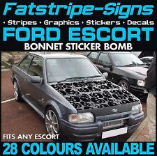 FORD Escort grafica STICKER BOMB Cofano Decalcomanie Adesivi Auto Vinile RS Cosworth