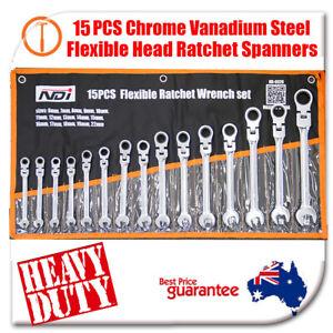 15 PCS NDI Flexi Head Ratchet Spanner Set 6MM-22MM  Metric ND-0328