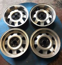 """15"""" ATS Cups 4x100 deep dish retro alloy wheels low offests Vw Golf Lupo Polo"""