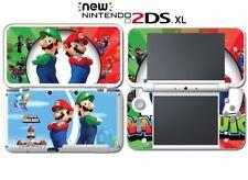 Super Mario Bros 2 Kart Luigi Party Video Game Decal Skin New Nintendo 2DS XL