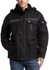 NEW Caterpillar Mens Heavy Insulated Parka Coat Black Large FREE SHIPPING