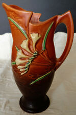 "ROSEVILLE Old Original Art-Pottery ""Freesia Series 1945"" Brown Ewer # 20-10 Nice"