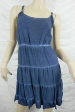 COTTON ON washed navy blue grace ruffle cami dress size L BNWT