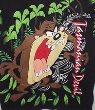 Tasmanian Devil Taz T-Shirt Men's Large Palm Trees Volcano Looney Tunes 1993