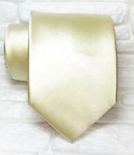 Cravatta beige-grigia tinta unita metal TOP Quality NUOVA marca 100% seta TRE