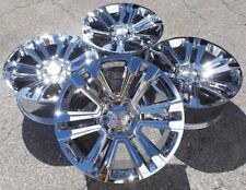 "Chrome GMC Sierra Denali Wheels Rims Yukon 22"" Chevy Silverado Tahoe Avalanche"