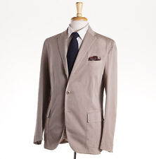 NWT $1295 BOGLIOLI Tan Twill Chino Cotton 'Maxton' Suit Slim 42 R (Eu 52)