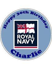 Personalizzata Royal Navy marinaio veterano Glassa Commestibile Compleanno Cake Topper Rotondo