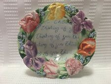 "Fitz & Floyd Essentials-""Thinking Of You"" Floral Collector Bowl"