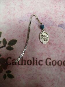 Metal Shepard Hook Bookmark With St Rita Medal Charm