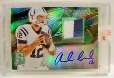 ANDREW LUCK AUTO AUTOGRAPH RELIC 2 COLOR SPECTRA PANINI 2013 3/5 ULTRA RARE WOOW