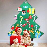 Kids DIY Felt Christmas Tree Door Wall Hanging Xmas Decor Ornaments Creative FR
