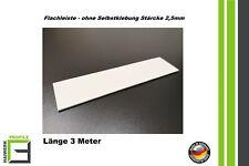 Abdeckleiste Flachleiste Kunststoffleiste PVC Fensterleiste 20-150mm 3 Meter