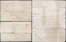 SCOTLAND KINGHORN MILEAGE...1829 BURNS NIGHT SUNDAY SIGNED THOS BARCLAY