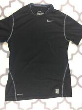Mens Nike Dri Fit Pro Combat Black Compression Athletic Shirt Size M Nice