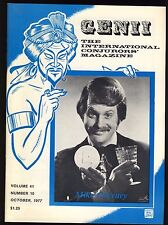 Mike Caveney Genii Magicians Magazine Oct 1977 - contents page scanned