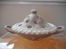 Wedgwood lilac jasper dipped small covered pot pourri holder restored