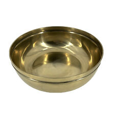 THRESHOLD NEW Round Brass Bowl Decorative Gold Antiqued Brass Tabletop Accent