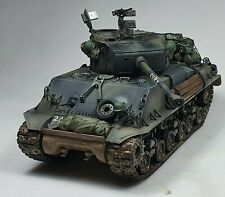 M4A3E8 Sherman Fury 1/35 model tank BUILT AND PAINTED