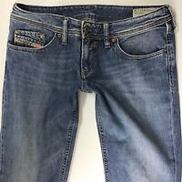 Ladies Womens Diesel LOWKY Regular Straight Blue Low Rise Jeans W27 L32 (776e)