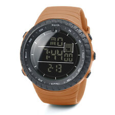 Men's Sports Rubber Band Digital Army Military Quartz Wrist Watch Waterproof AU Red