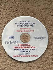 Medical Transcription Interactive CD- David Green