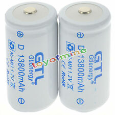 2x D dimensioni 1.2V 13800mAh Ni-MH Bianco Dolor ReDhargeable Batteria