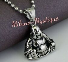 MILANO-MYSTIQUE Stainless Steel Happy Laughing Lucky BUDDHA Necklace Pendant
