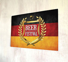 Beer Festival Golden Crest Beer Label Germany Flag Sign A4 Metal Plaque