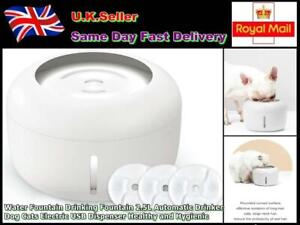 Water Fountain Drinking Fountain 2.5L Automatic Drinker Pet Electric USB Dispens