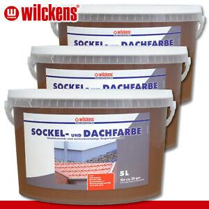 Wilckens 3 x 5 l Sockel- und Dachfarbe | Havanna | Sockelfarbe Dachziegel außen