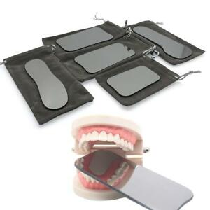5 Dental Intraoral Orthodontic Photographic Glass Mirror 2-sided Rhodium!