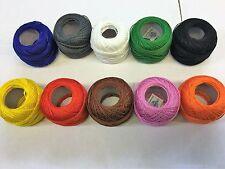 10 ANCHOR Bolas Algodón Perla Bordado No.8 color más exigentes Jp Coats