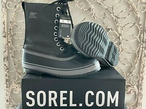 SOREL   Women's 9 US (7 UK) 1964 CVS Black Quarry Canvas Waterproof Duck Boots