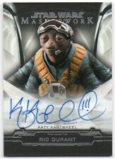 2019 Star Wars Masterwork Autographs A-KK Katy Kartwheel Rio Durant Auto