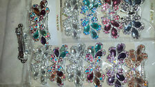 Joblot 12 pcs Butterfly Design Sparkly hairclips hairgrips NEW wholesale lot 9