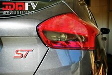 15-17 Ford Focus ST SMOKED Tail Light Overlays Tint Vinyl Film Precut REVERSE