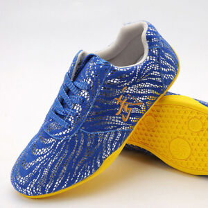 Martial Arts Shoes Kung Fu Tai Chi Shoes Sneakers Wushu Footwear 武 Soft Leather