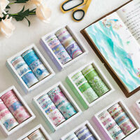 10 Rolls Washi Masking Paper Tape Set DIY Scrapbooking Sticker Album Decor Petal