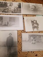 Lot Of 6 Early 1900's, Vintage Black And White Photo Postcards