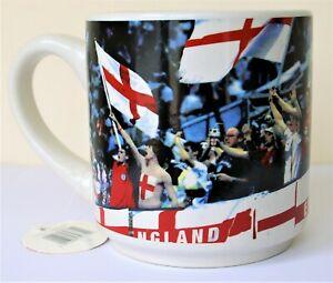 Brand New 20oz Jumbo England Football Patriotic Stoneware Mug 064/330