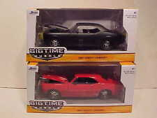 2 pack 1967 Chevy Camaro Coupe Die-cast Car 1:24 Jada Toys 8inch Red Black