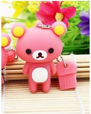 1pc 16GB Pink Teddy Bear USB Flash Thumb Drive USA Shipper