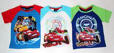 Disney Cars Racing Neon Jungen kurzarm T-Shirt Gr.98-128 Polo Shirt kurzarm neu