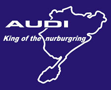 AUDI KING OF THE NURBURGRING STICKER IN WHITE ALL COLOURS